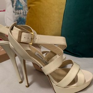 Jimmy Choo sandals off white. Gently used.